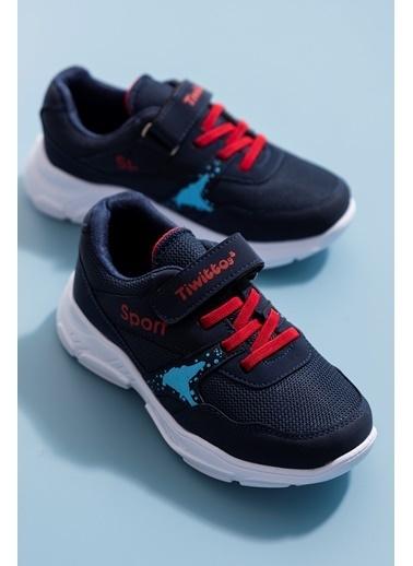 Tonny Black Lacivert Kırmızı Çocuk Spor Ayakkabı Tbz02 Lacivert